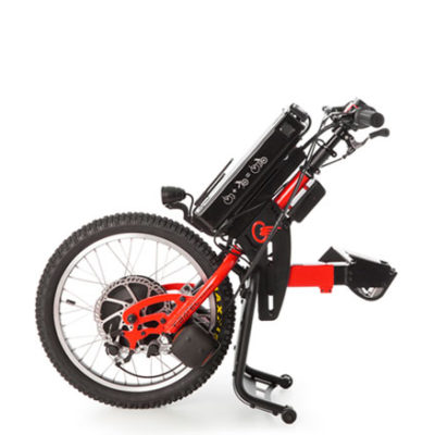 Batec Mobility red demo on white background