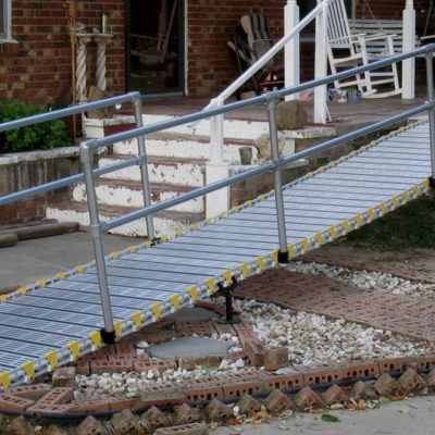 photo of modular residential ramp from Roll-A-Ramp