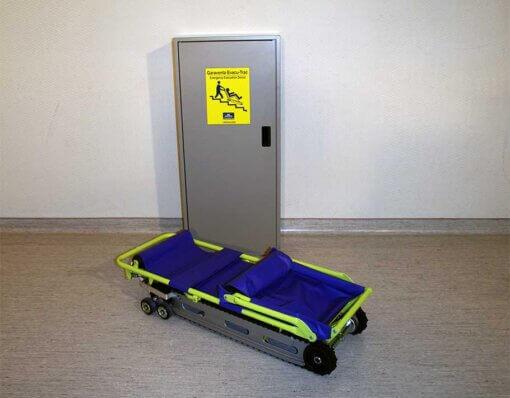 powertrac chair folded on the floor