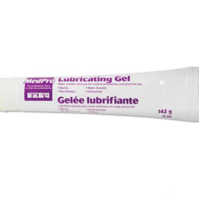 MedPro lubricating gel on white background